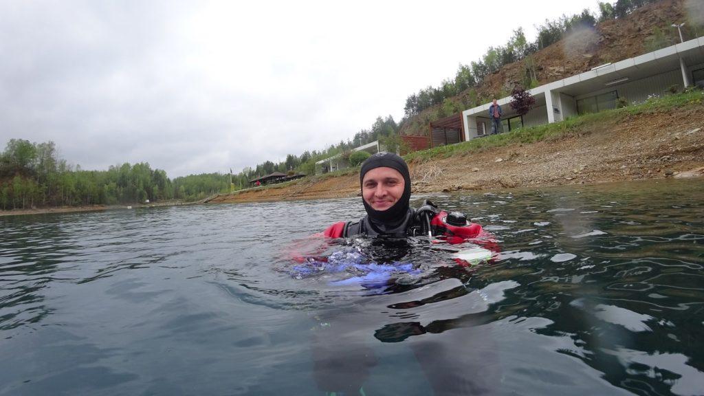 Otwarcie sezonu w  kamieniołomie Koparki Jaworzno 1szkoła nurkowania kraków