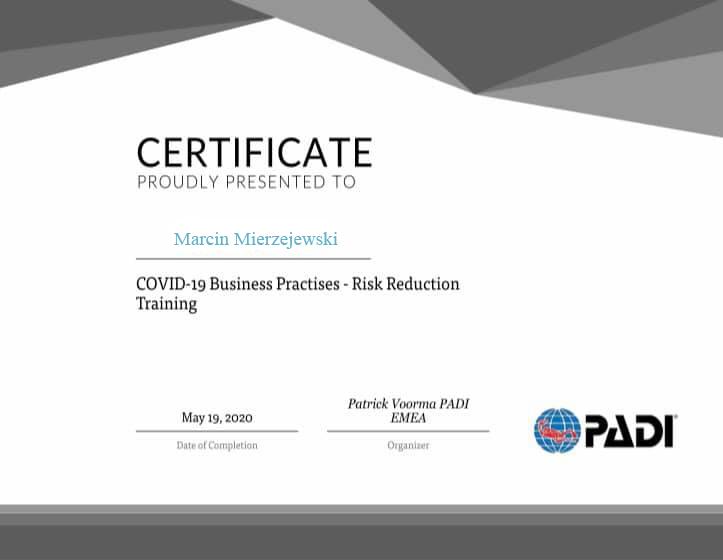 Nurkowanie a COVID-19. Ważna informacja dla klientów. 2szkoła nurkowania kraków