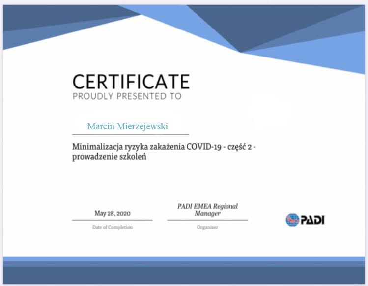 Nurkowanie a COVID-19. Ważna informacja dla klientów. 3szkoła nurkowania kraków