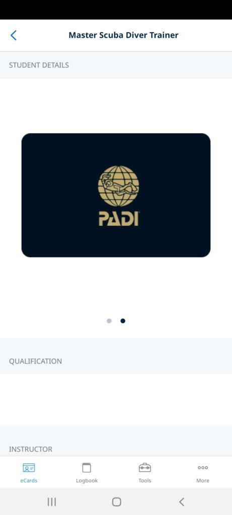 certyfikat PADI