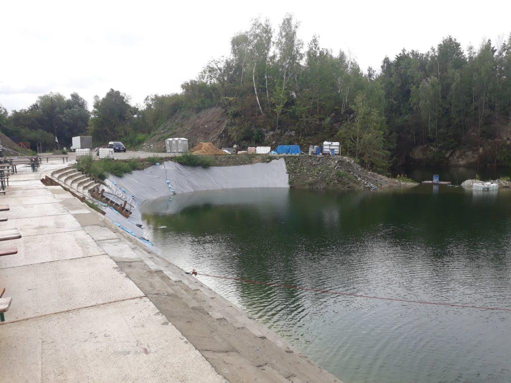 projekt kamieniołom - napełnianie zbiornika