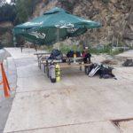 projekt kamieniołom stoliki na terenie bazy